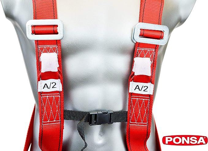 PONSA CGPK 7 SOLO Arnes seguridad trabajo dos puntos de anclaje ...