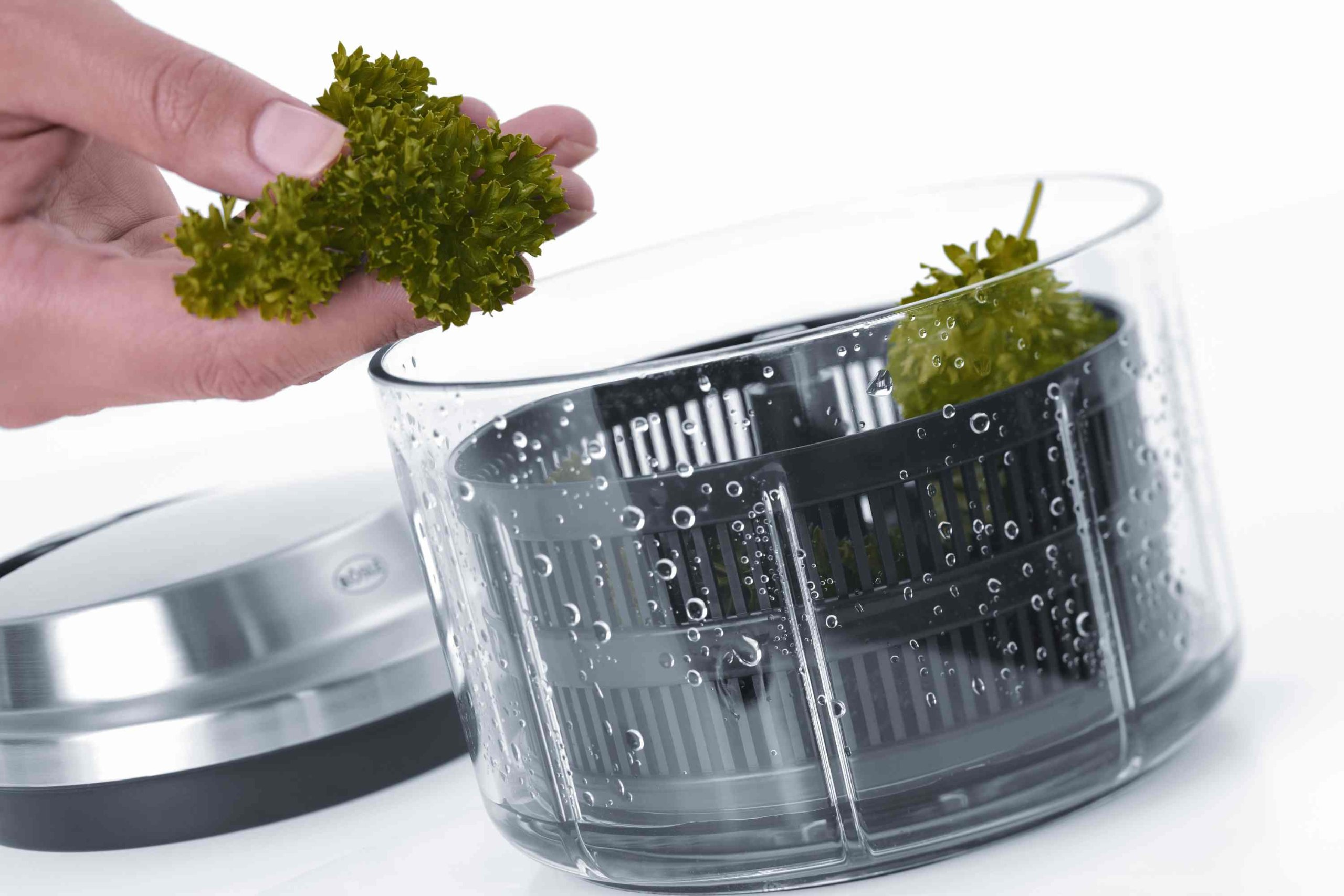 Rösle Manual Multi-Cutter with Spin-Drying Herbs Basket by Rosle (Image #6)