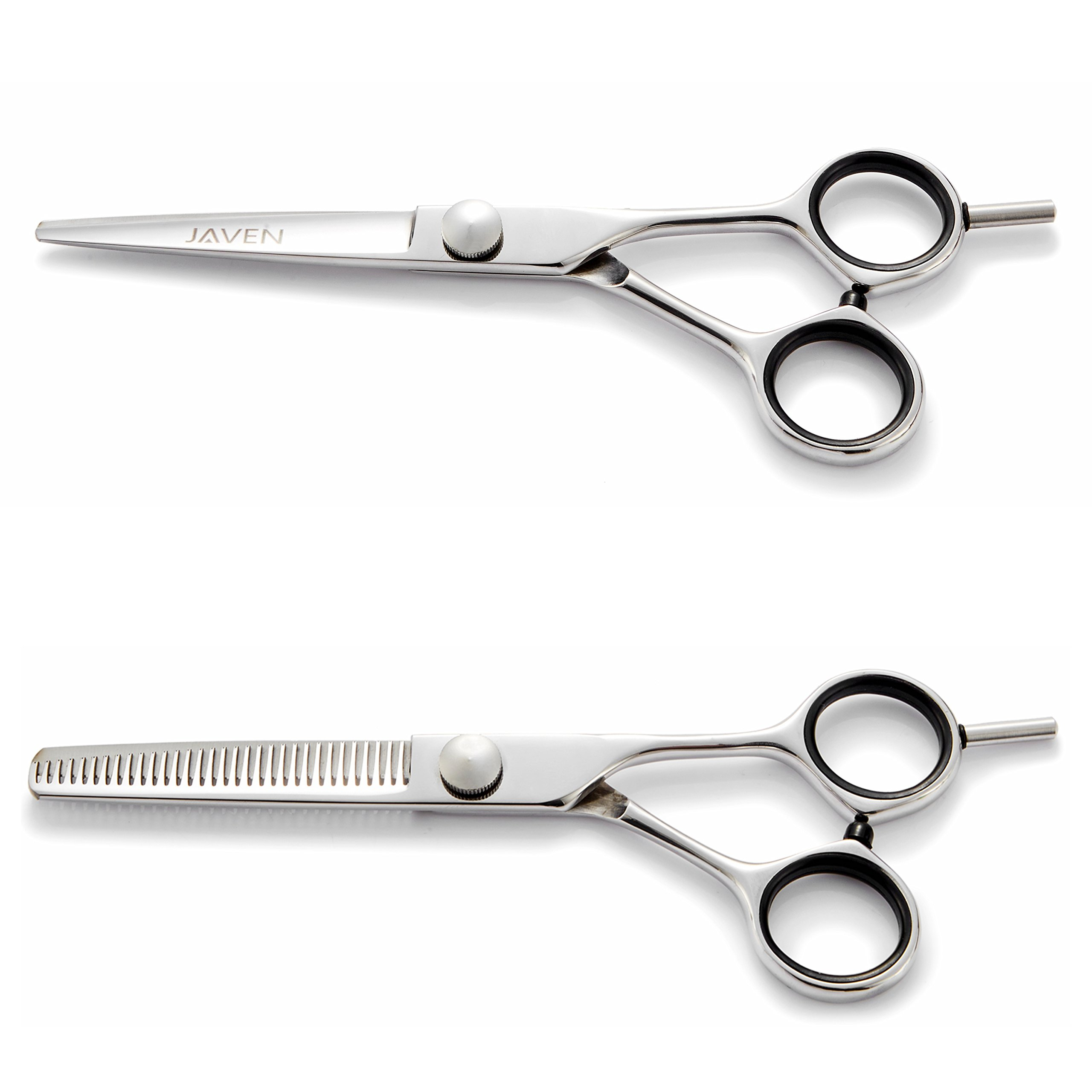 2018 Professional Hair Cutting Scissors Set,Japanese 6.5 Inch Hair Scissors Teflon Shears Hairdressing Scissors Barber Thinning Scissors Hairdresser Razor Edge Haircut Right hand use by JAVENPROLIU (Image #4)