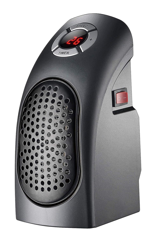 TECHNOSMART® Termoventilador Eléctrico | Calefactor cerámico 400W | Mini Calentador Portátil con Control de Temperatura hasta 32°C | Temporizador 12 H ...