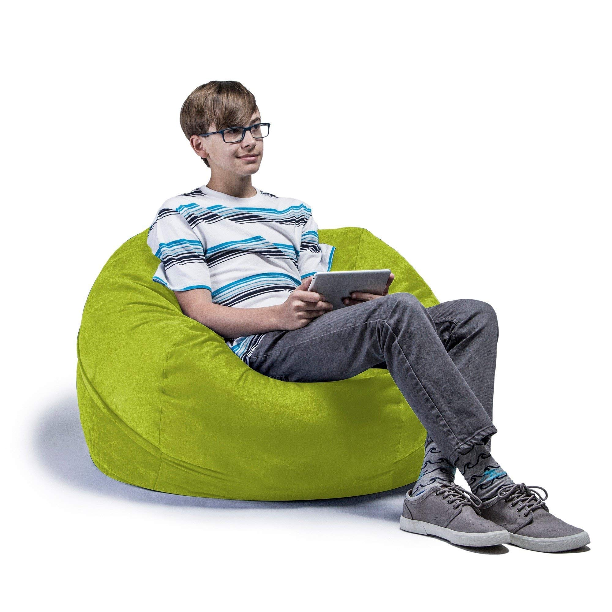 Jaxx Lounger Jr. (Microsuede Lime) (48''H x 24''W x 24''D) by Studio one Up (Image #1)