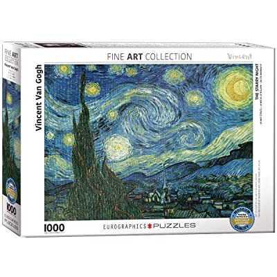 Eurographics Starry Night by Vincent Van Gogh 1000-Piece Puzzle: Toys & Games