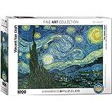 EuroGraphics Rompecabezas de 1000 Piezas Starry Night de Vincent Van Gogh