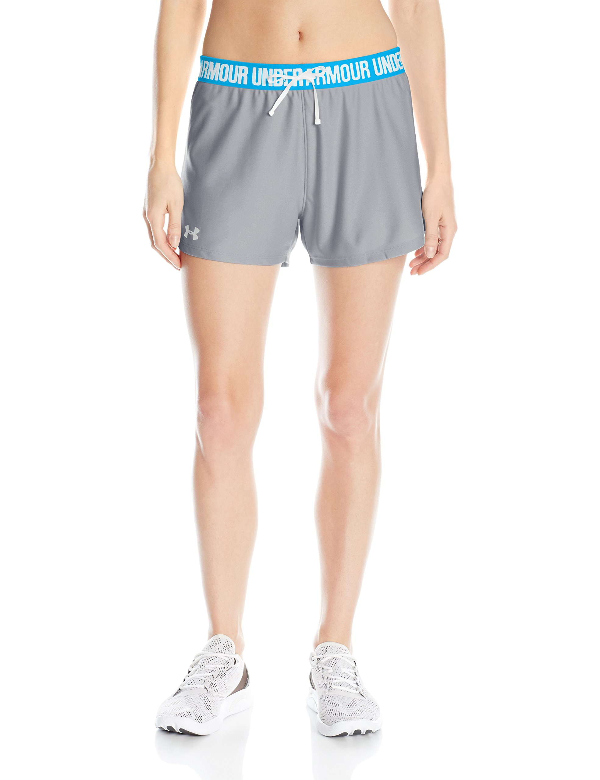 Under Armour Women's Play Up Shorts, Steel (035)/Metallic Silver, Small by Under Armour
