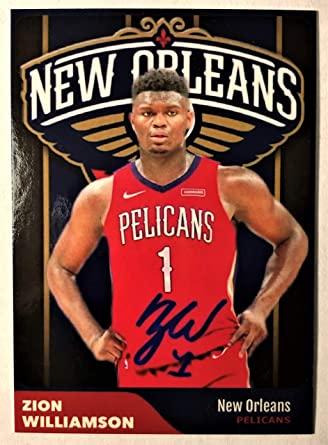 Zion Williamson New Orleans Pelicans First Rookie Card 2019 Nba Draft Number 1 Draft Pick