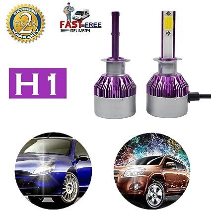 Amazon Com H1 Car Headlight Bulbs Led Headlamp Conversion Kit 10000