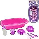 M.Y Baby 8 Piece Dolls Bath and Accessory Set