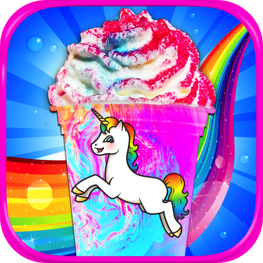 Rainbow Unicorn Milkshakes - Kids Frozen Dessert Food Maker Games FREE - Paws Milk Chocolate