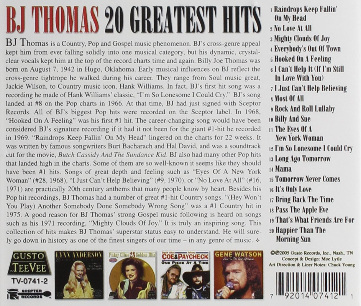 Bj Thomas - 20 Greatest Hits - Amazon.com Music