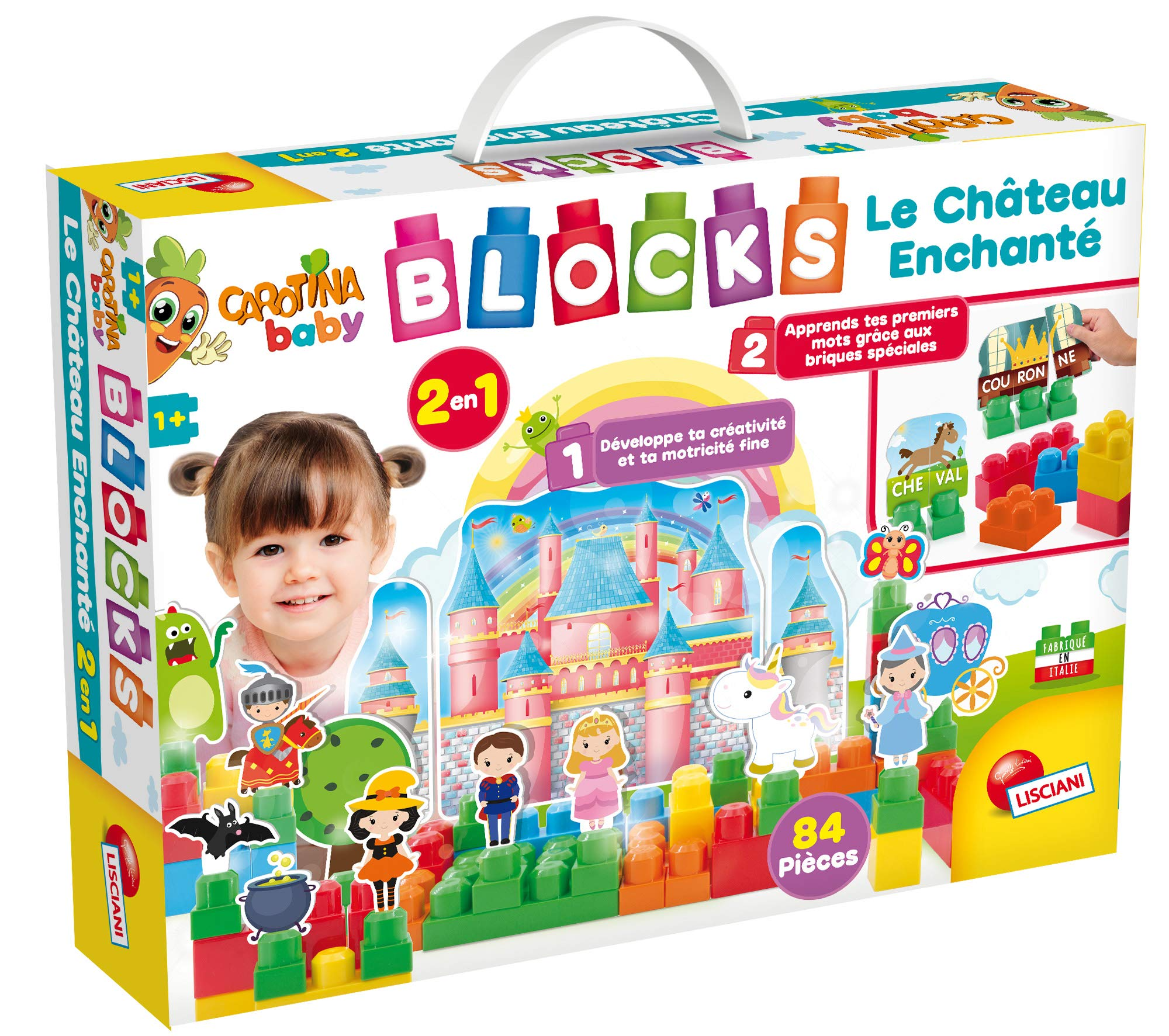 Lisciani Games-The Building of carotina The Enchanted Castle, 2in 1, Multicoloured, 68579