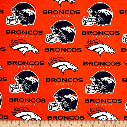 Amazon.com  Fabric Traditions NFL Cotton Broadcloth Denver Broncos ... 767c2e177