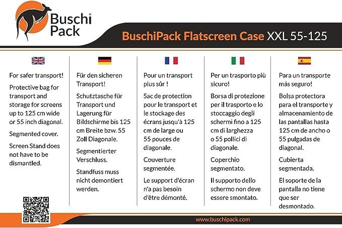 BuchiPack Maleta de Transporte para Pantallas, Pantallas Planas ...