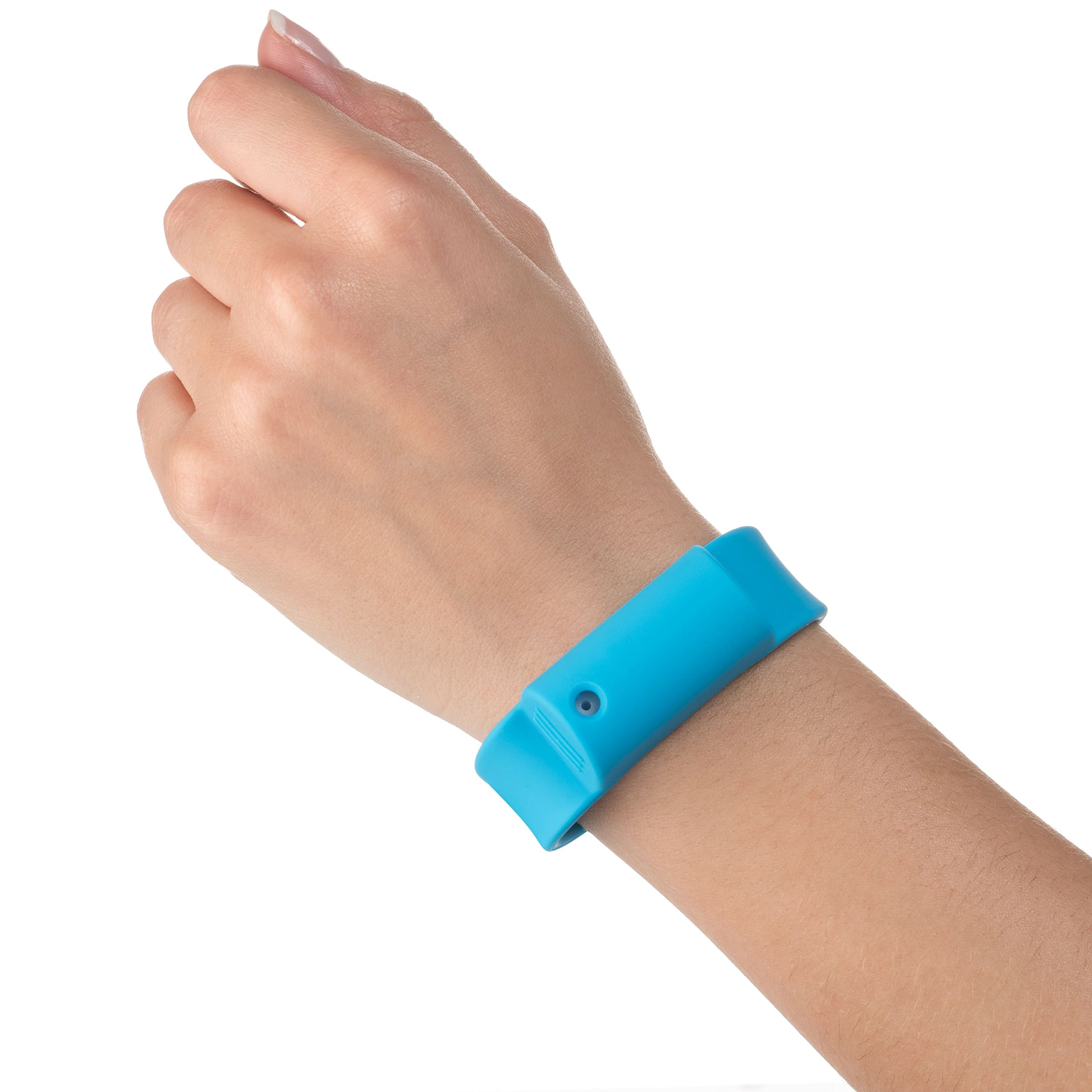Little Viper Pepper Spray Bracelet, Adjustable Silicone Band- Blue, Lightweight, Discreet and Easy Access For Quick Response to Attack, Contains 3-6 Bursts of 10% OC, Cannot Ship to MA or NY
