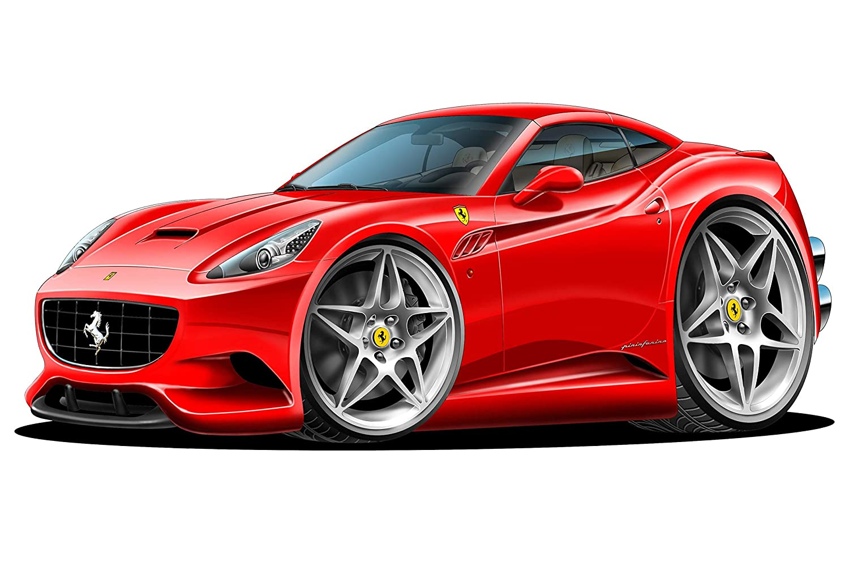 Amazon.com: Ferrari California Wall Decal 2ft Long Sport ...
