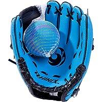 PHINIX Baseball Glove Tee Ball Mitts and Foam Ball for Kids Beginner Play Training