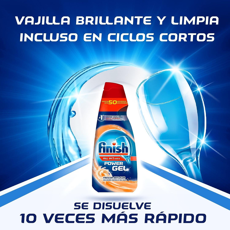 Finish Gel Lavavajillas Todo en 1 Max Anti Olor - 35 dosis: Amazon.es: Hogar