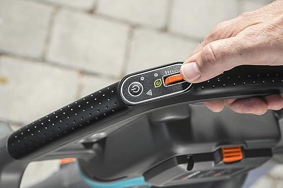 Gardena 9338-55 Aspirador/Soplador de hojas, motor de 40 V, potencia de aspiración 160 l/s, incl. correa, se vende sin batería ni cargador