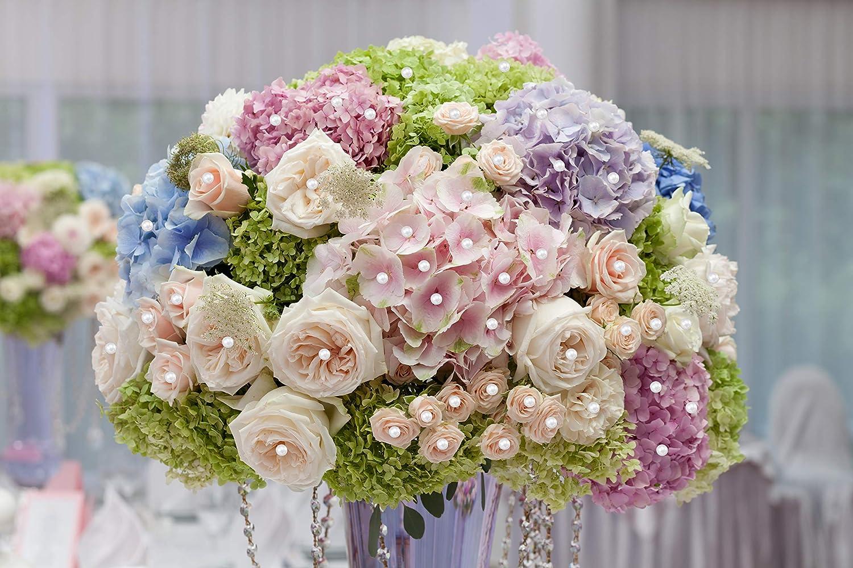 2.6 Inch Senkary 200 Pieces Corsages Pins Ball Pearl Pins Flower Pins Floral Pins Straight Head Pins Wedding Bouquet Pins