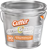 Cutter CitroGuard 17-oz Insect Repellent Bucket Candle, Silver, 6-PK