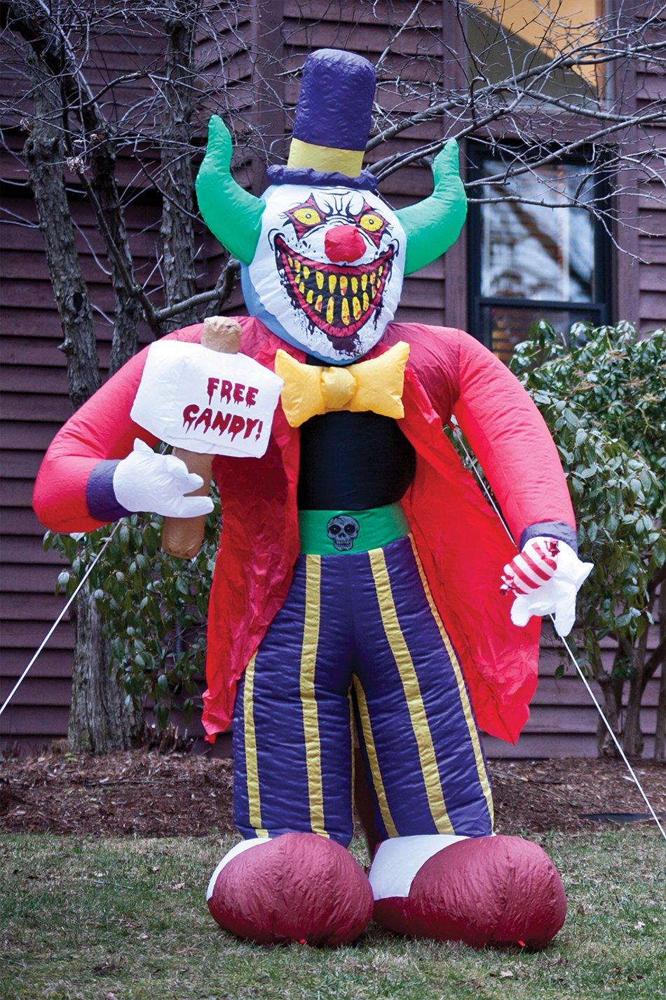 Free Candy Clown Inflatable Decoration Morbid Enterprises m37158