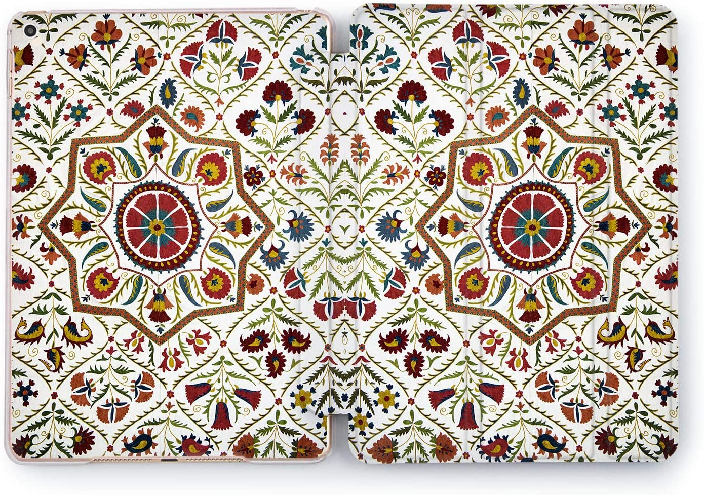 Wonder Wild Oriental Print Apple iPad 2 3 4 Pro Case 9.7 11 inch Mini 1 2 3 4 5 Air 2 10.5 12.9 2018 2017 Design 5th 6th Gen Clear Smart Hard Cover Mosaic Ornament Traditional Decor Flowers Abstract
