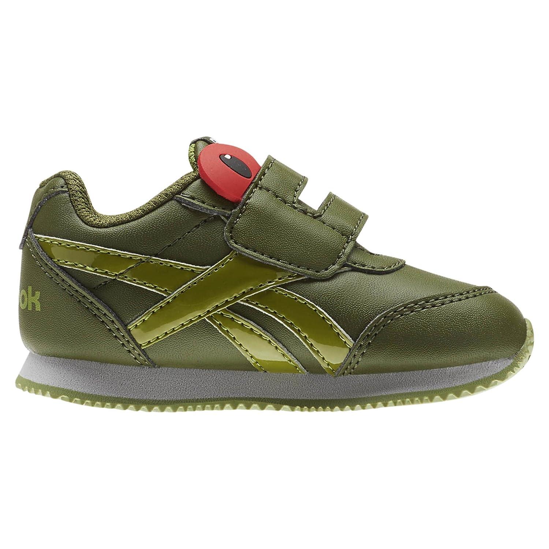 Reebok Royal Cljog 2 KC, Zapatillas de Estar por Casa Bebé Unisex, Verde (Tree Frog-Wild Green/Bright Moss/Skull G 000), 21.5 EU CN0995