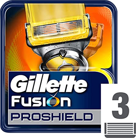 Gillette Fusion ProShield Recambio de Maquinilla de Afeitar para Hombre - 3 Recambios