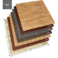 Sorbus Wood Grain Floor Mats Foam Interlocking Mats Tile 3/8-Inch Thick Flooring...