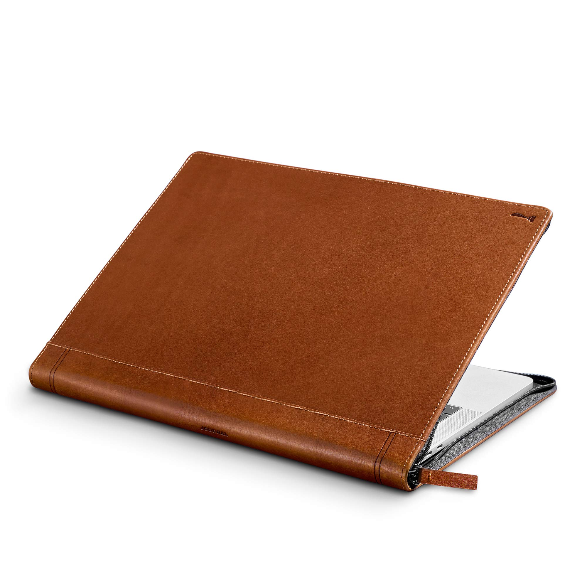 Twelve South Journal for MacBook 15'' | Luxury Leather Case/Sleeve with Interior Pocket for MacBook Pro with Thunderbolt 3 (USB-C)