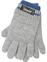 Thinsulate Boys Stripe Pattern Trim Knitted Winter Warm Gloves