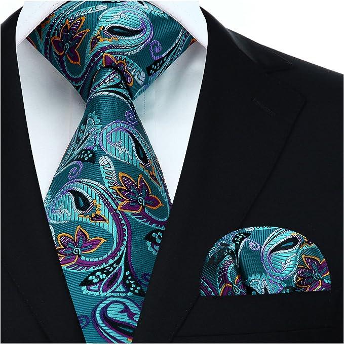 HISDERN Panuelo de lazo de boda Paisley floral Panuelo de corbata ...