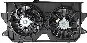 MYSMOT 620-042 Dual Radiator and Condenser Fan Assembly For 2005-2007 Chrysler Town & Country/Dodge Caravan/Dodge Grand Caravan 4677695AA