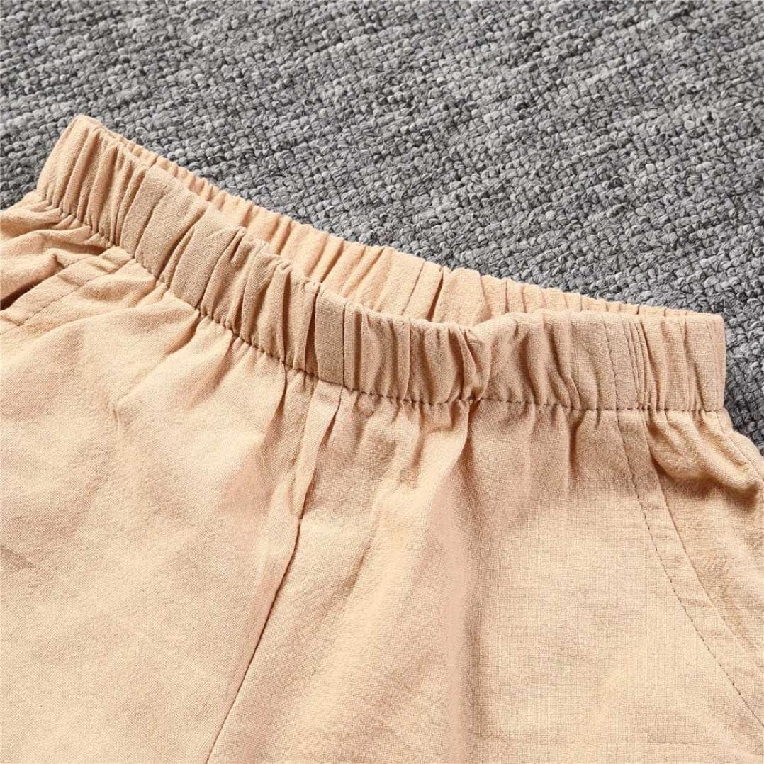 Toddler Children Kids Baby Girls Boys Solid Shorts Pants Leggings Outfits Goodlock Boys Girls Shorts Pants