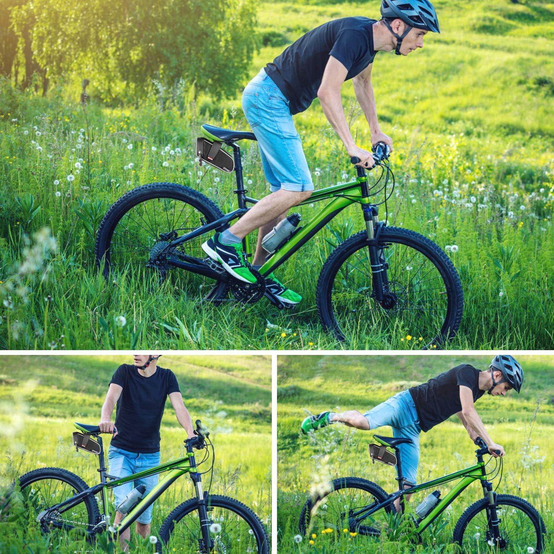 Bike Seat Pannier Fit for Road//MTB//Folding Bike LuTuo Bike Saddle Bag Big Capacity /& Waterproof Bike Underseat Storage Bag Durable /& Visibile Quick Mount /& Easy Release,Taillight Tape