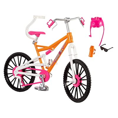 Barbie Camping Fun Bicycle Bike Set: Toys & Games