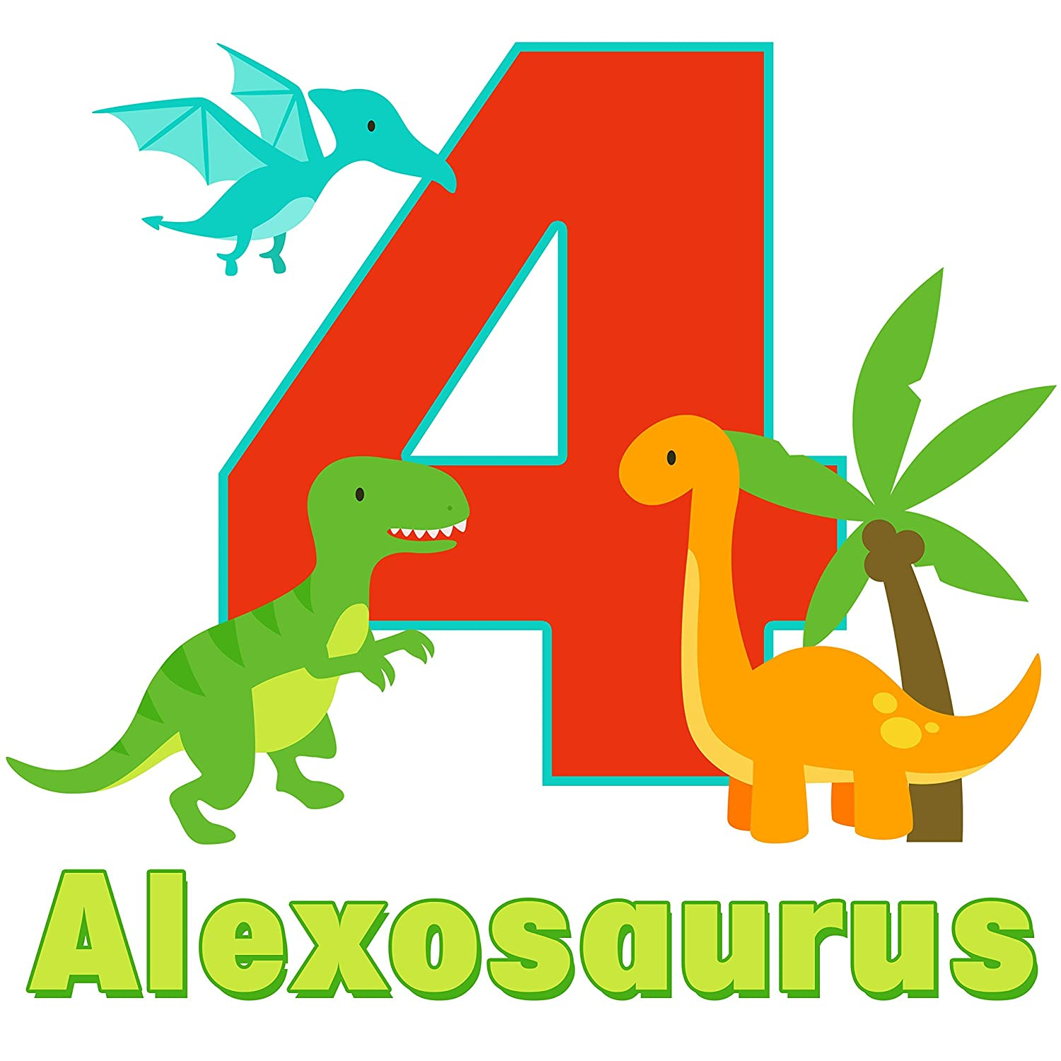 Personalized with ANY Name and Age Personalized Dinosaur Birthday Shirt or Bodysuit