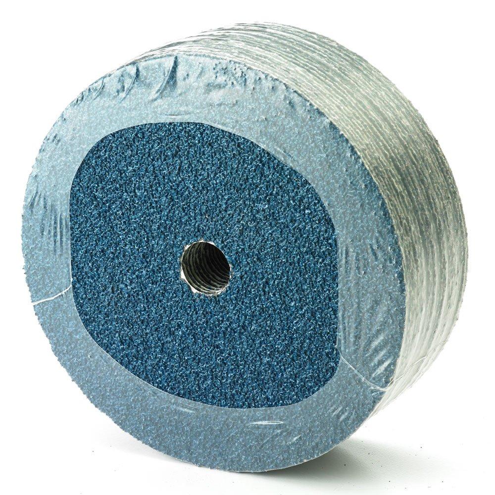 4-1//2 x 7//8 Mercer Industries 307036 36 Grit Zirconia Resin Fiber Discs 25 Pack