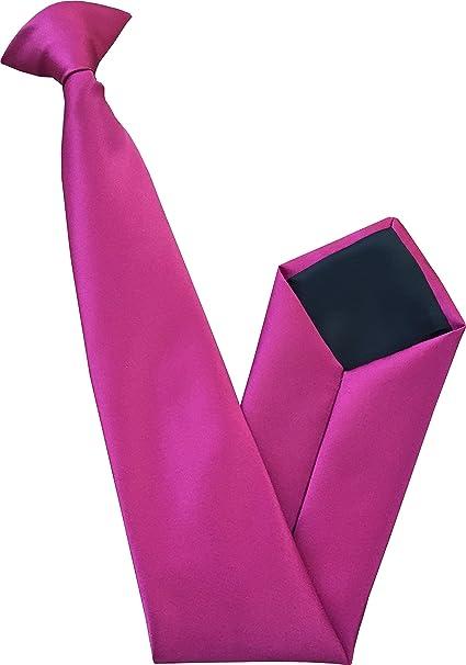 Corbata de satén con pinza, para hombre, varios colores fucsia ...