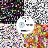 95ba34569cbd 800pcs 4 letras de letras del alfabeto de acrílico de color A-Z Cube los  granos con