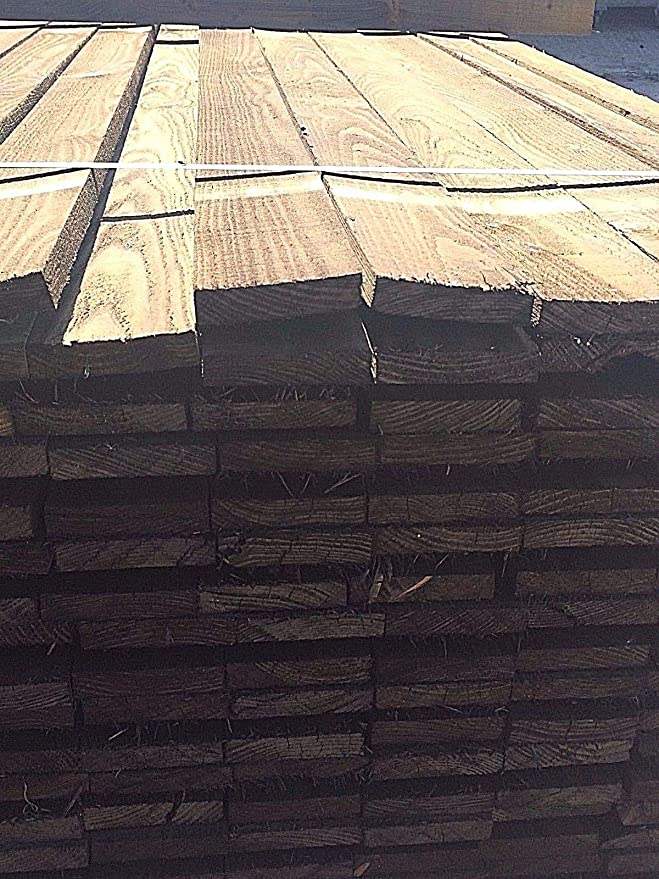 19 X 100 GREEN TREATED PAILING 4X1 TIMBER 1.8M LENGTH