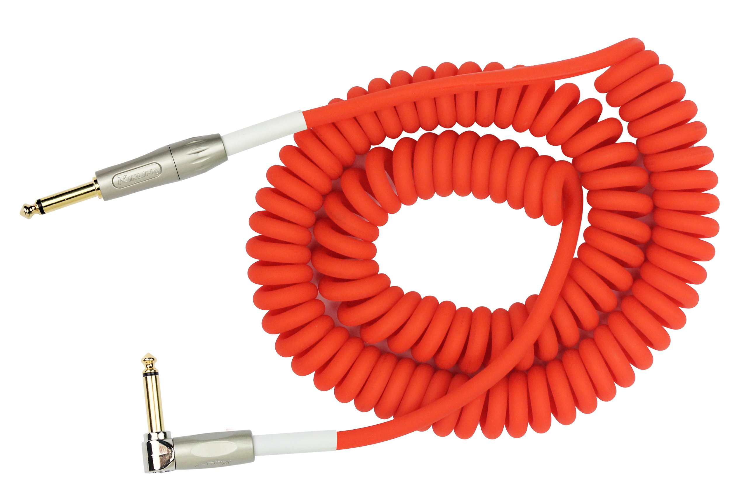 KIRLIN Cable IMK-202PFGL-30/RDF 1/4 Premium Coil Instrument Cable, 30', Red Translucent by KIRLIN, KIRLIN CABLE