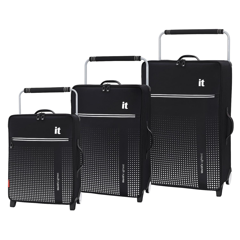 Blue Azul 70 cm 59 Liters it luggage WorldS Lightest Vitalize 2 Wheel Super Lightweight Suitcase Medium Maleta