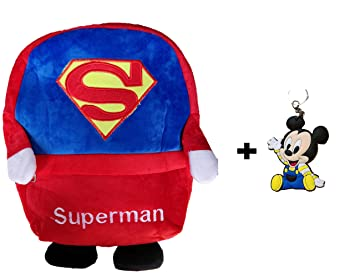 8b34aa180a ToyJoy Superman School Bag with Keychain 35cm for Kids Girls Boys Children  Plush
