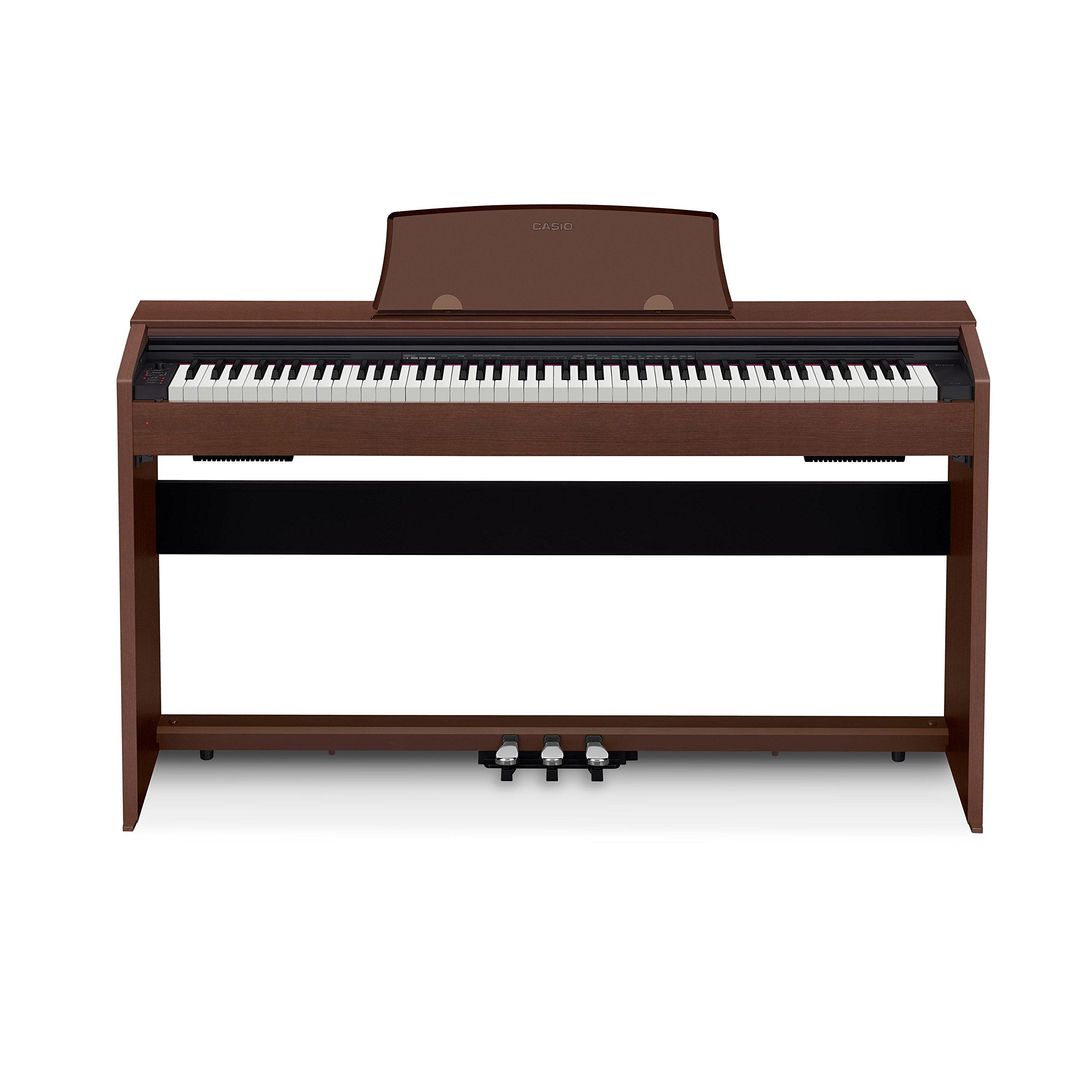 Casio PX-770 BN Privia Digital Home Piano, Brown by Casio