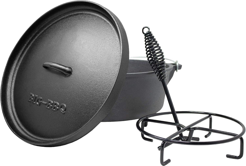 ToCis Big BBQ DO 6 Dutch Oven | Horno holandés de Hierro Fundido | pretratadas y curadas 12