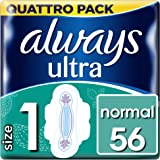 Always Ultra Normal (Size 1) sanitary towels with wings 56 Pack
