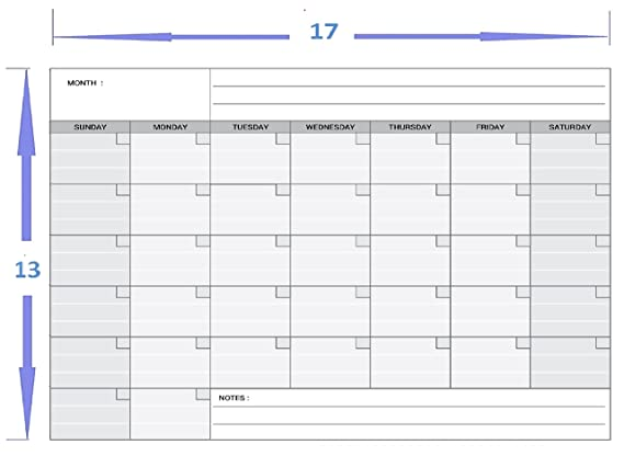 Magnetic Monthly Calendar Planner for Your Refrigerator or Office 17