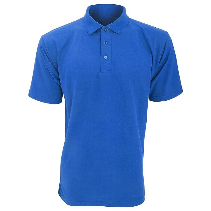 Polo épais uni à manches courtes UCC pour homme (5XL) (Bleu marine) 2h3yOPSU
