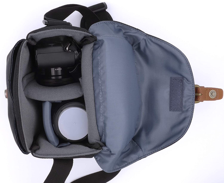 DREI Farben Zipperband PowerShot G3 x Alpha 6400 6500 6600 SX70 HS SX540 HS Baxxtar Modena S Kameratasche 24-60mm Coolpix B500 B600 B700