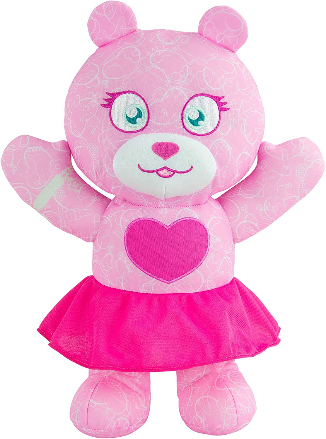 Brittany Stuffed Animal, Amazon Com Doodle Bear The Original Fashion 14 Plush Toy With 3 Ct Washable Marker Set Pink Toys Games